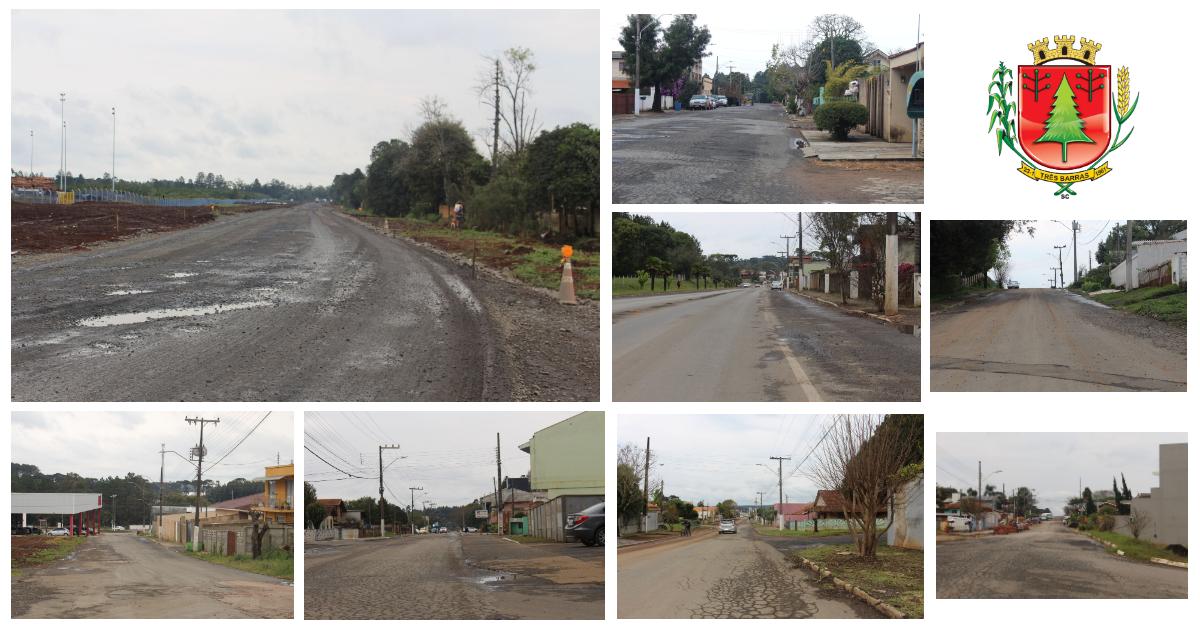 Prefeitura de Três Barras confirma pavimentação asfáltica do desvio rodoviário e reperfilamento de sete ruas