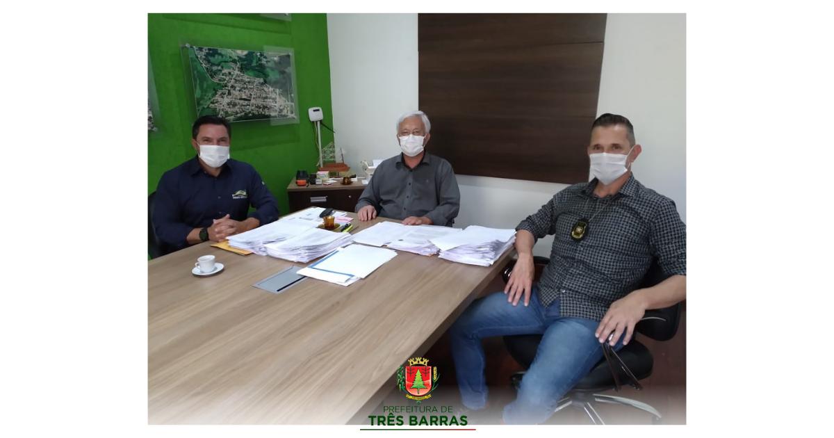 Prefeitura de Três Barras e Polícia Civil firmarão convênio para compra de viatura