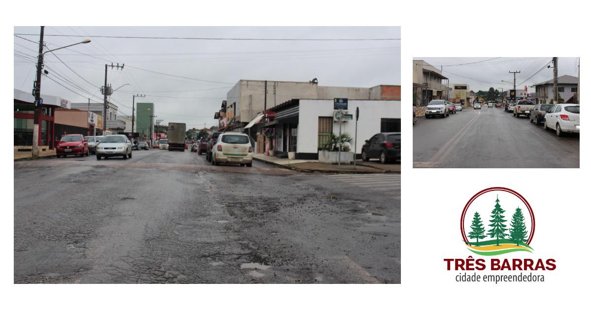 Prefeitura de Três Barras lança edital para a revitalização de trecho da Avenida Rigesa