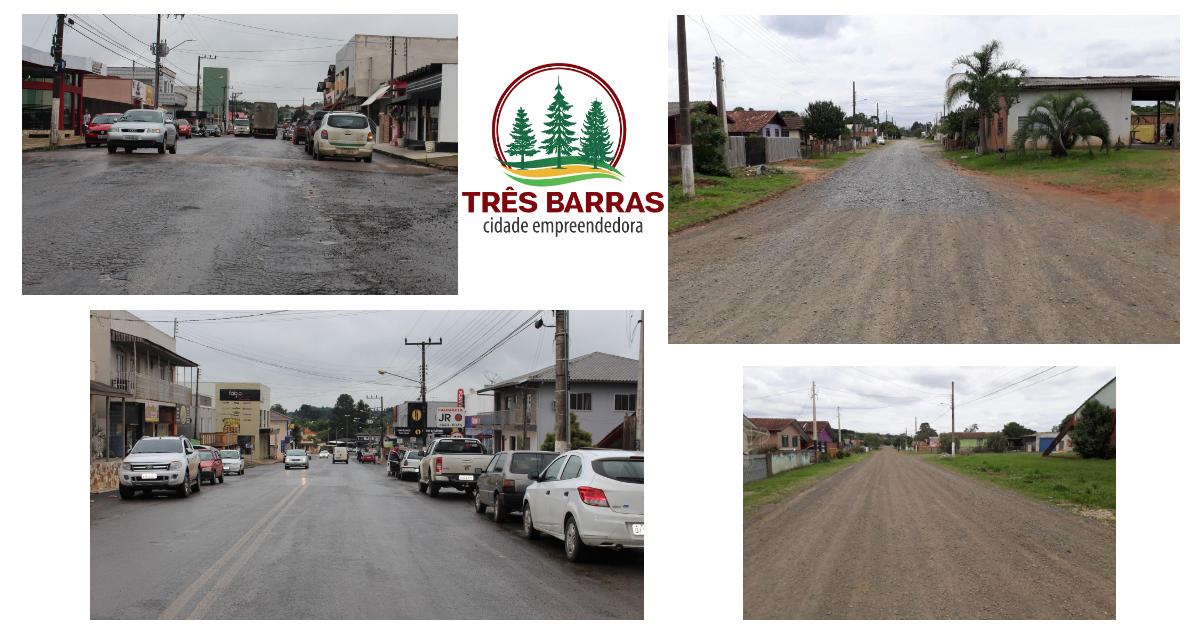 Prefeitura de Três Barras licita revitalização da Avenida Rigesa e pavimentação de 12 ruas