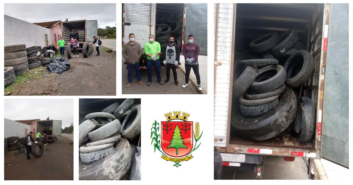 Prefeitura realiza coleta de 120 pneus em desuso no distrito de São Cristóvão