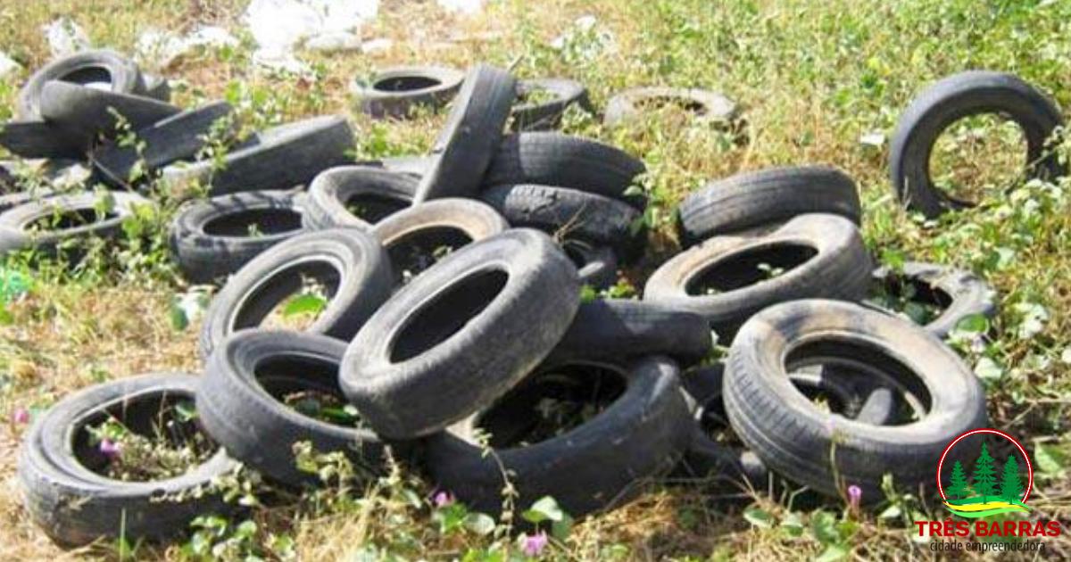 Prefeitura realiza coleta de pneus a partir desta sexta-feira em Três Barras
