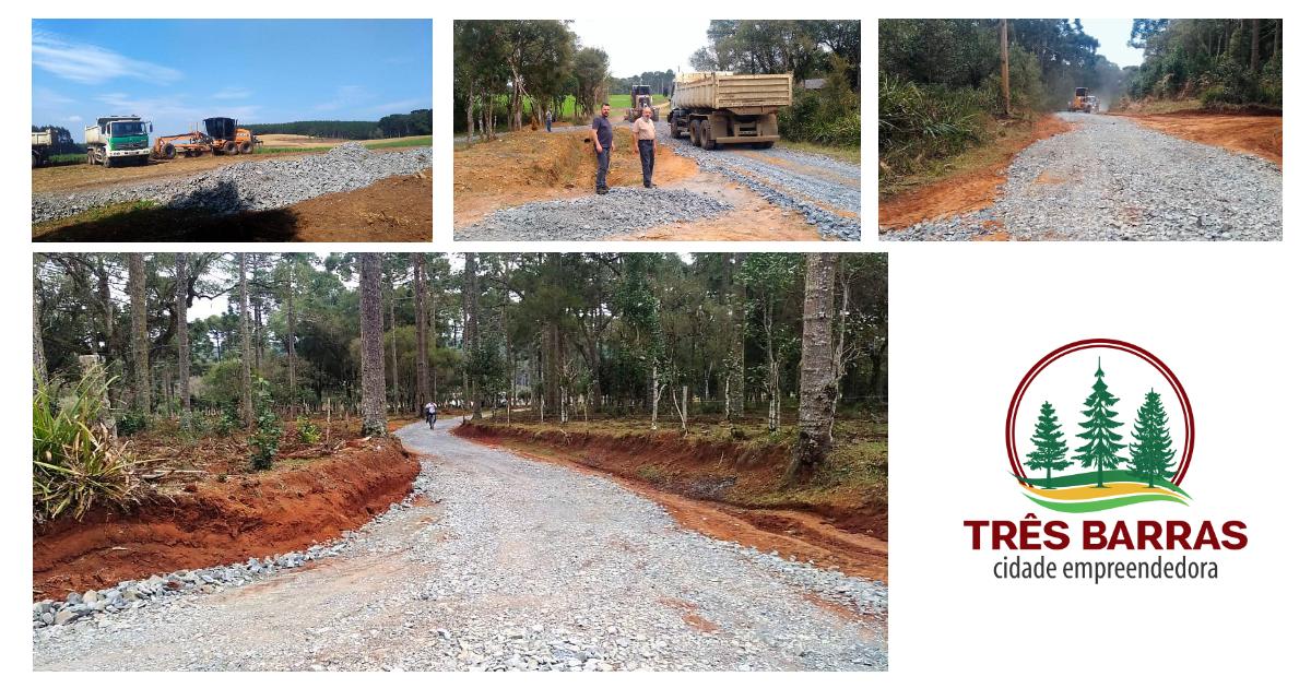 Prefeitura realiza recuperação de estrada na localidade de Engenho Queimado