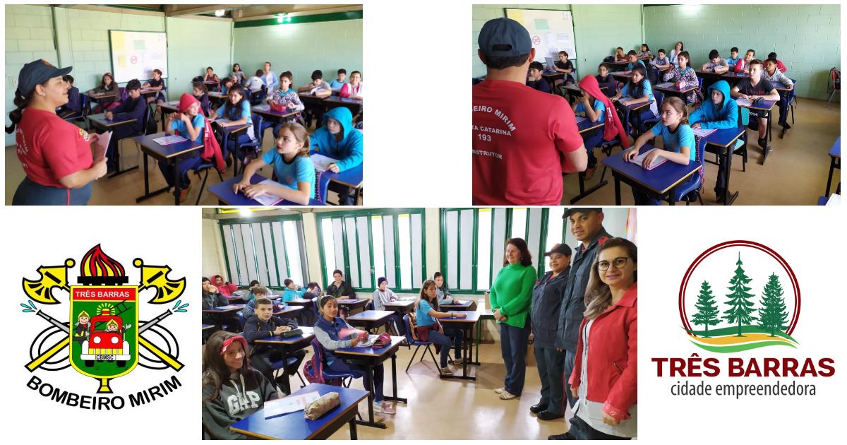 Projeto Bombeiro Mirim inicia para 110 estudantes da EBM João Pacheco de Miranda Lima (Caic)