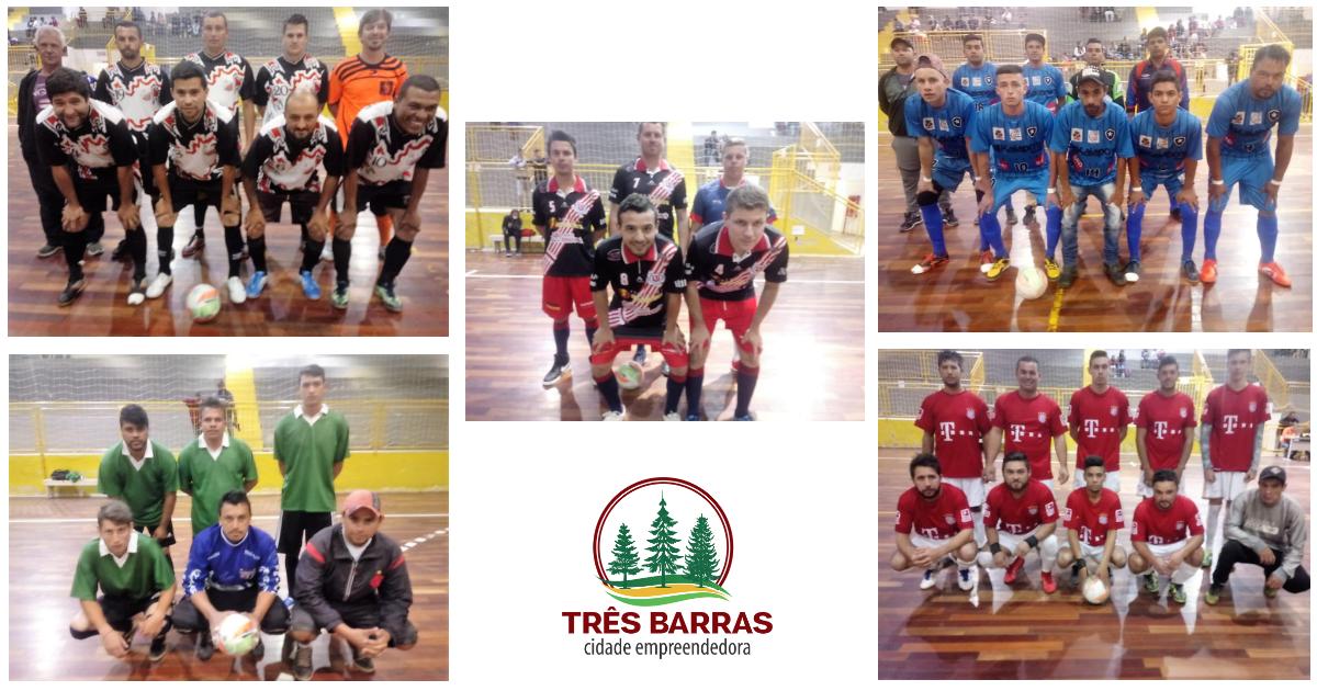 Quarta rodada do Futsal Livre Masculino teve 16 gols marcados e a eliminação do Unidos por WO
