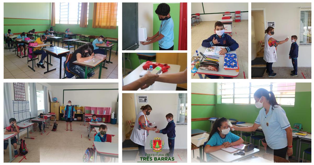 Quase 1,8 mil alunos voltam às aulas nas escolas municipais de Três Barras