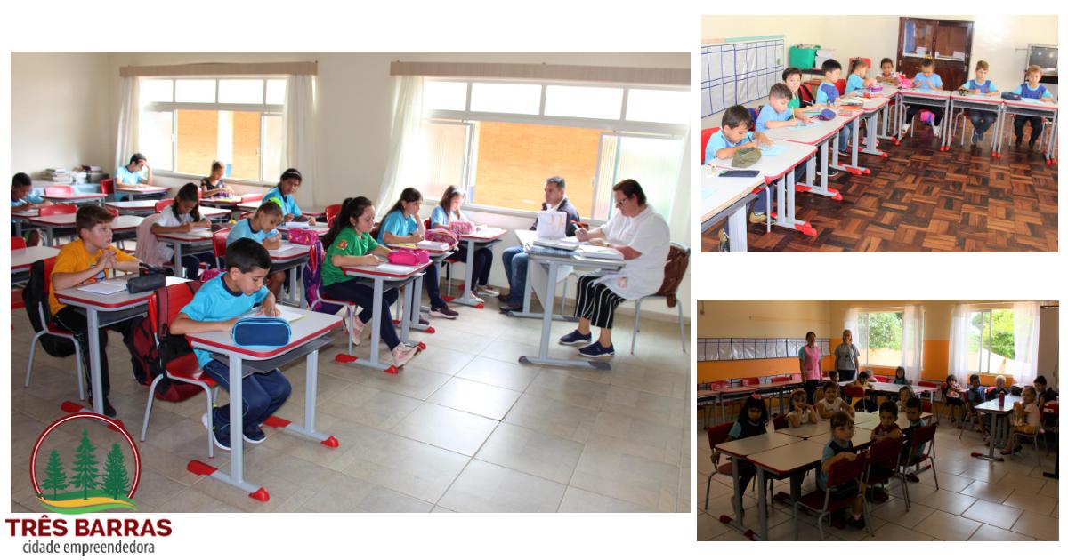 Quase três mil estudantes retornaram às aulas nesta quinta-feira em Três Barras