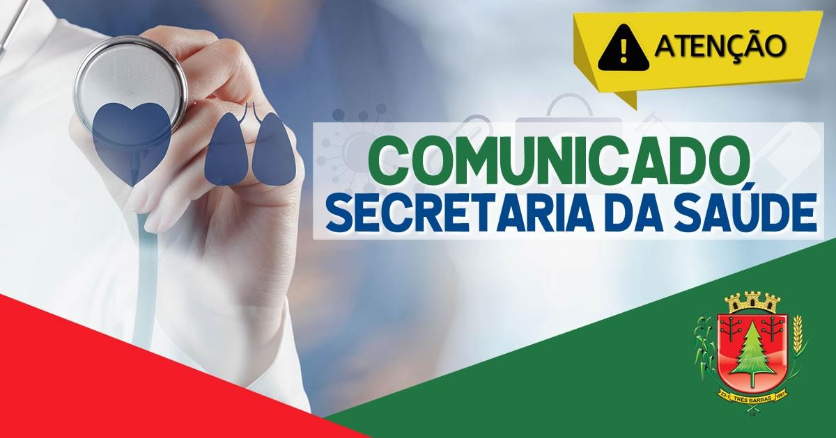SAÚDE DE TRÊS BARRAS REALIZA VACINAÇÃO CONTRA COVID-19 NESTE SÁBADO