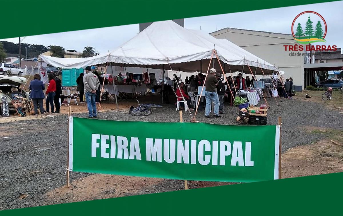 Sábado é dia de Feira Municipal de Produtos Coloniais e Artesanato em Três Barras