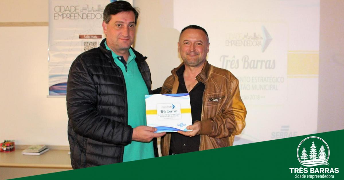 Sebrae/SC oficializa entrega do PEGEM à prefeitura de Três Barras
