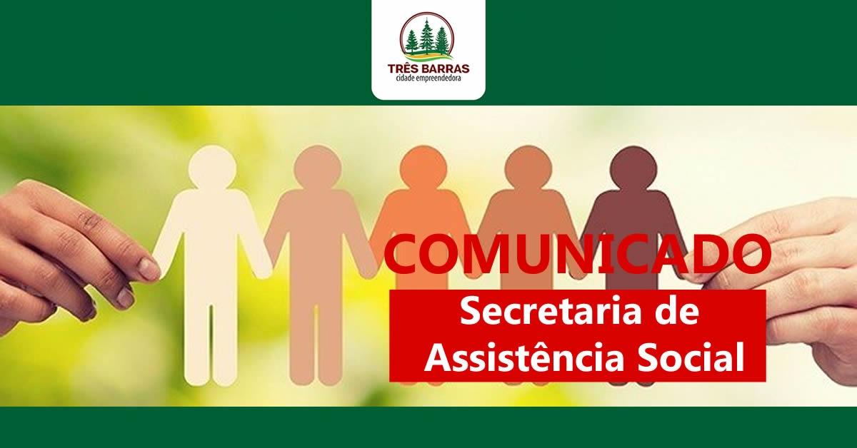 Secretaria de Assistência Social estará fechada na manhã desta sexta-feira