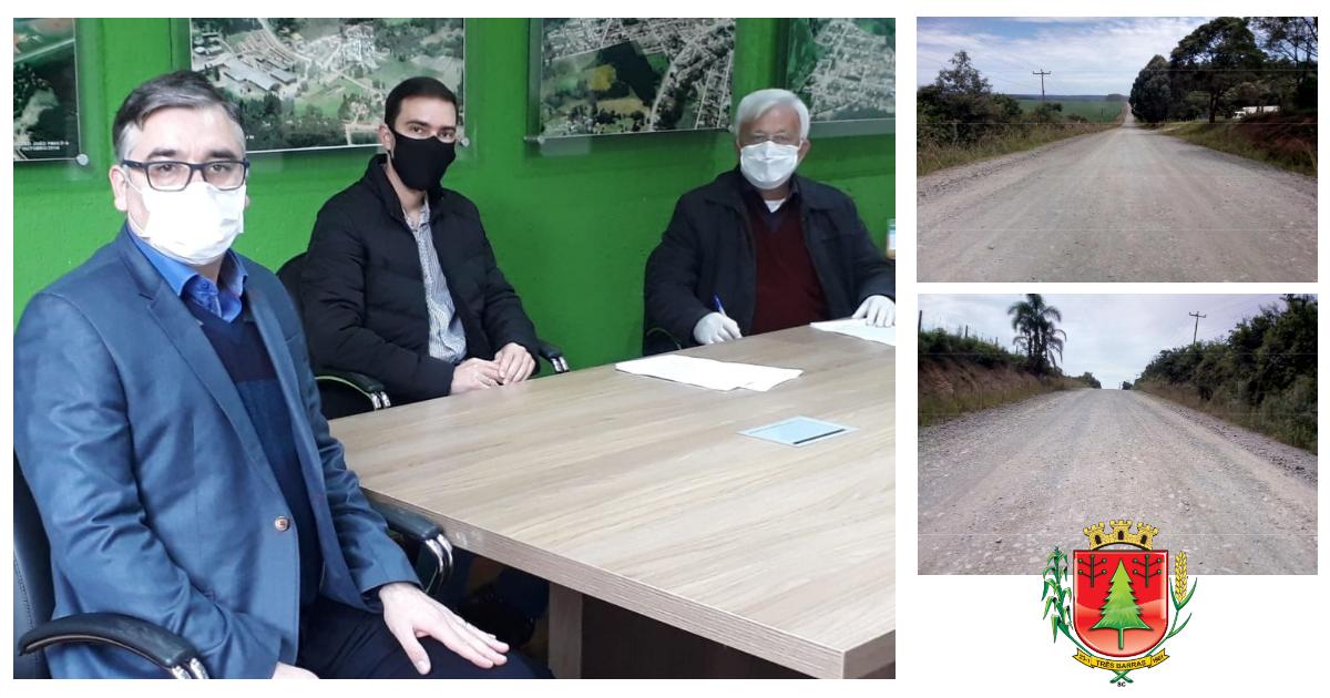 Shimoguiri assina convênios para o asfaltamento de mais dois trechos da Estrada Transfalcônica