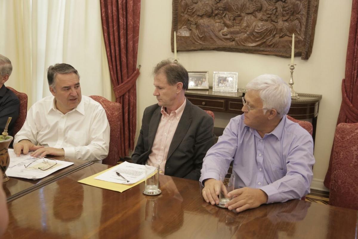 Shimoguiri e prefeitos da Amplanorte participam de reunião com o governador do Estado