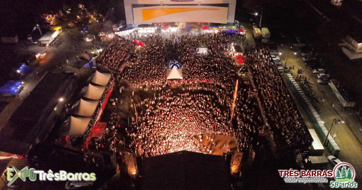 Show de Fernando e Sorocaba atrai multidão a Expo Três Barras