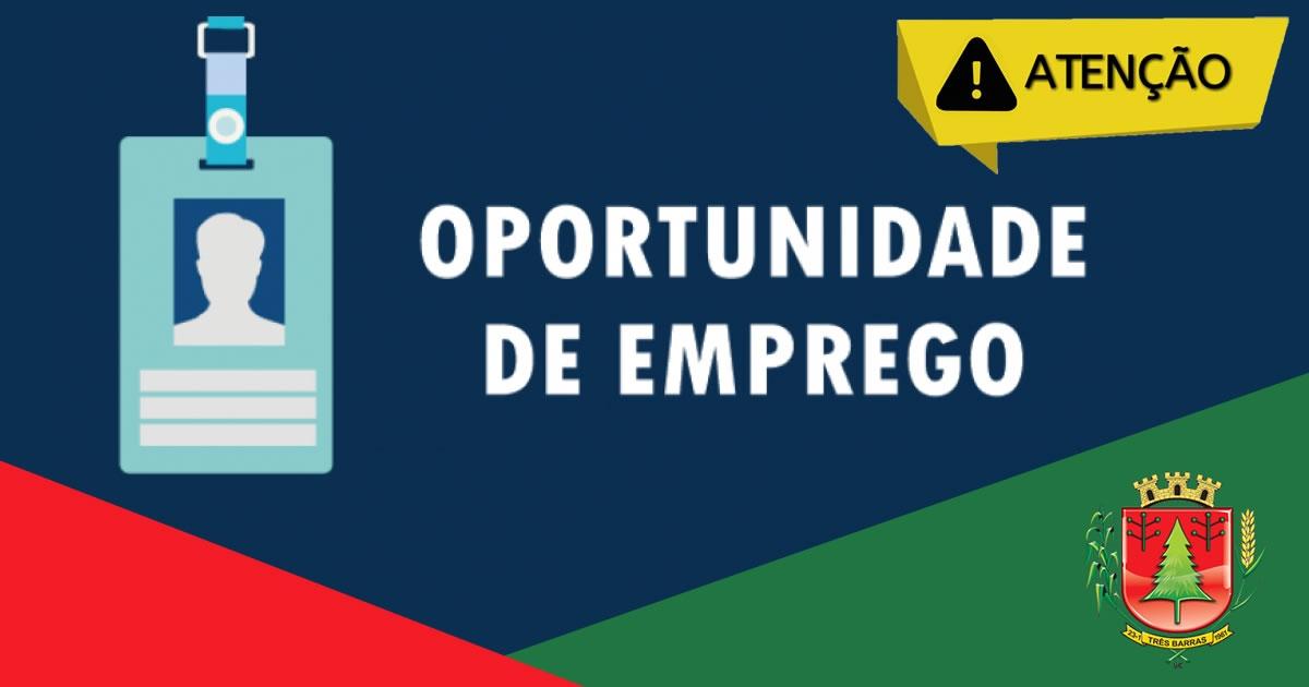 Sine de Três Barras intermedia a contratação de profissionais para 54 vagas