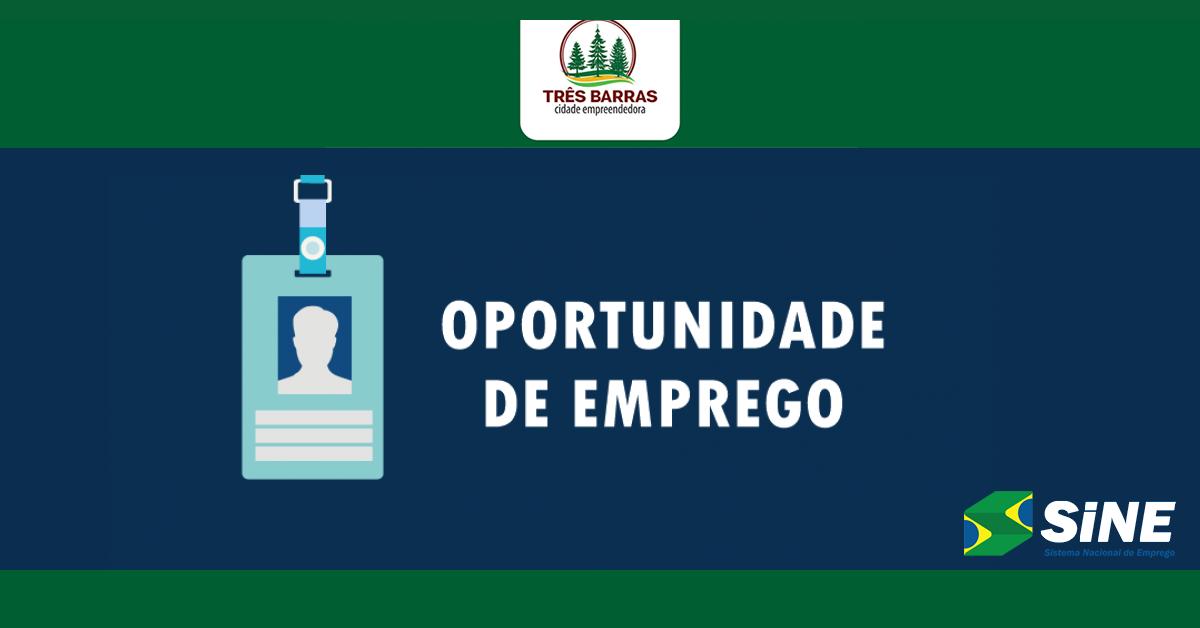 Sine de Três Barras tem vagas disponíveis para Enfermeiro e Técnico de Enfermagem