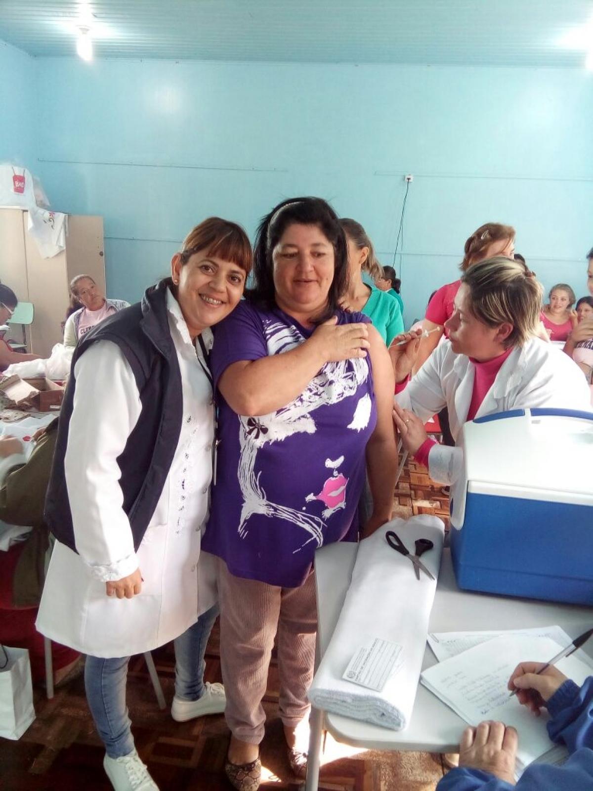 Três Barras está a menos de 10% de alcançar a meta de vacinação contra a gripe