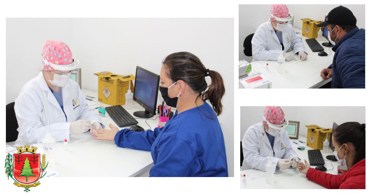 Três Barras realiza testagem em massa dos profissionais de saúde para covid-19