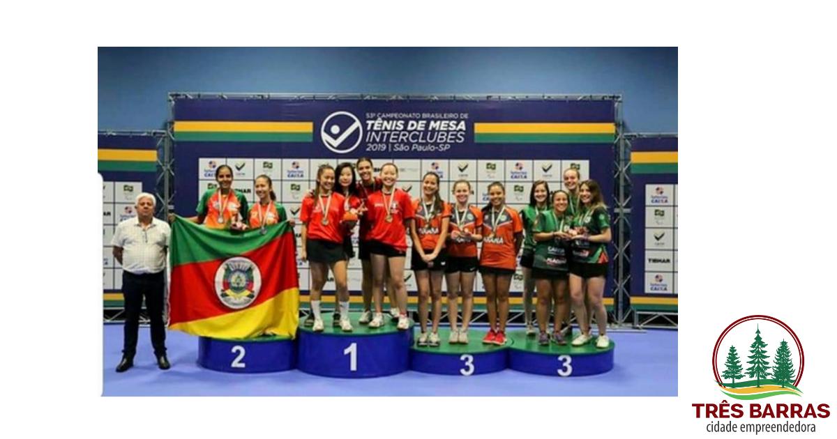 Tresbarrense é medalha de bronze no Campeonato Brasileiro de Seleções Estaduais de Tênis de Mesa