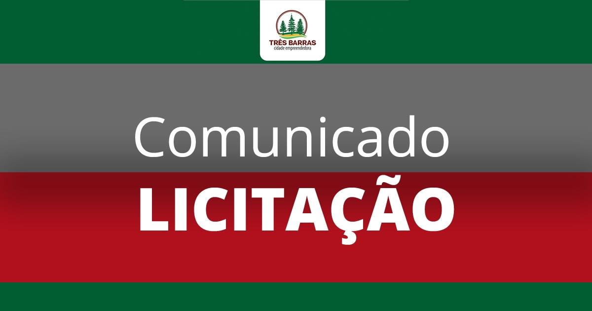 Urgente: comunicado sobre a reabertura de prazo de licitação