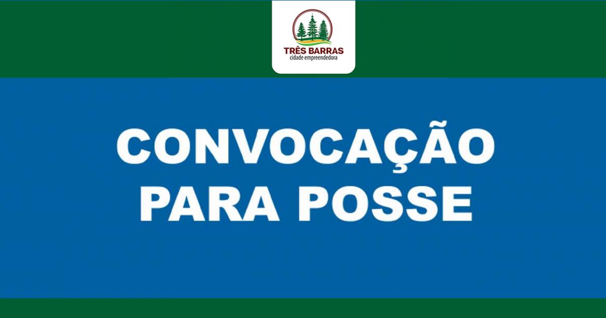 Urgente: Prefeitura de Três Barras convoca condutor aprovado em processo seletivo
