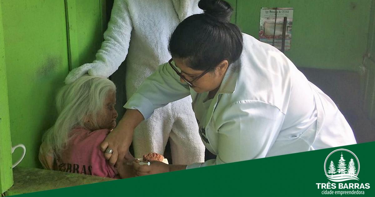 Vacinação contra a gripe: Três Barras encerra campanha com 100,63% de cobertura