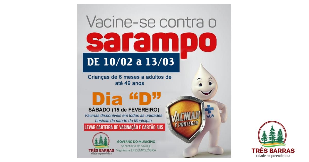 Vacinação contra o Sarampo segue até 13 de março; Dia D será neste sábado