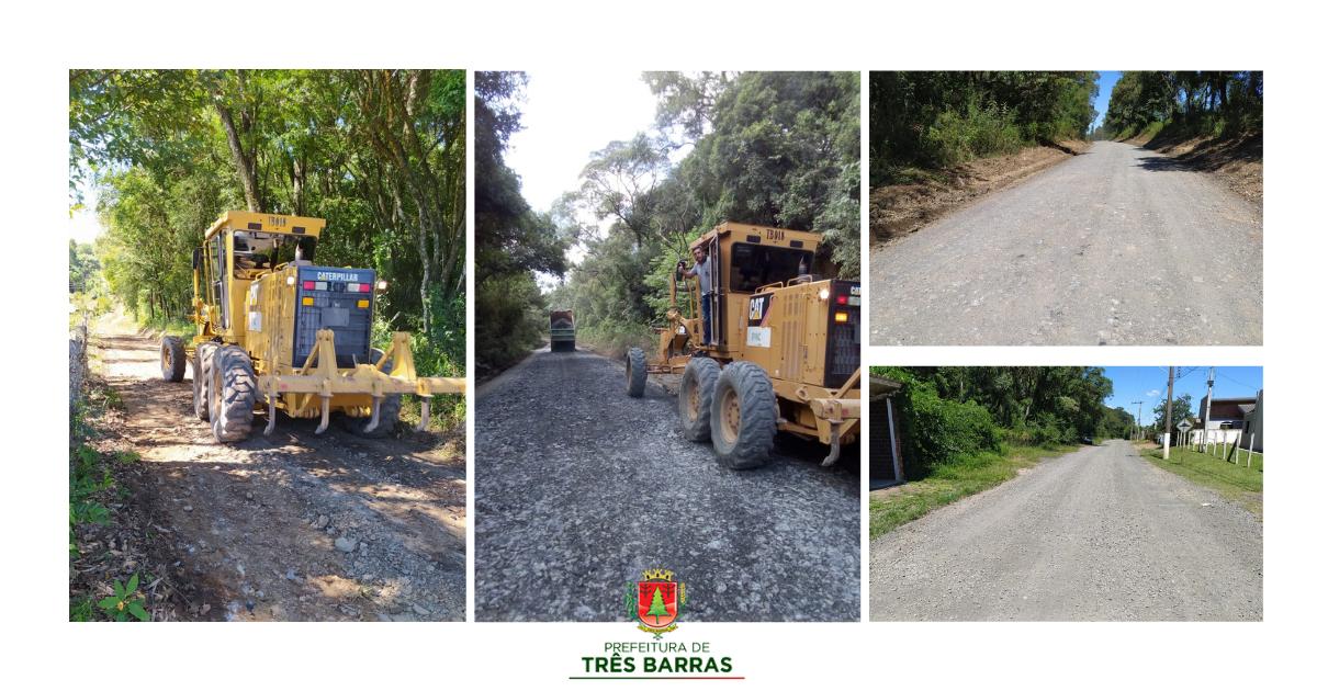 Viação e Obras trabalha na recuperação de estradas no Km 06/ Barra Grande